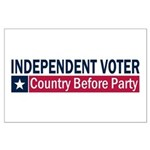 Independent Voter Blue Red Large Poster