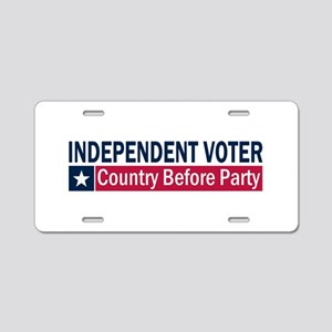Independent Voter Blue Red Aluminum License Plate