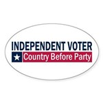 Independent Voter Blue Red Sticker (Oval 10 pk)