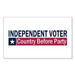 Independent Voter Blue Red Sticker (Rectangle)