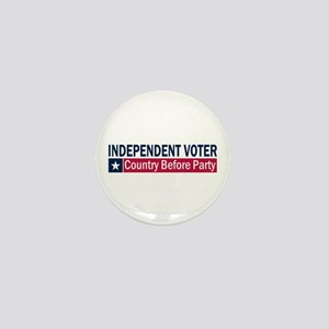Independent Voter Blue Red Mini Button