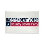 Independent Voter Blue Red Rectangle Magnet (100 p