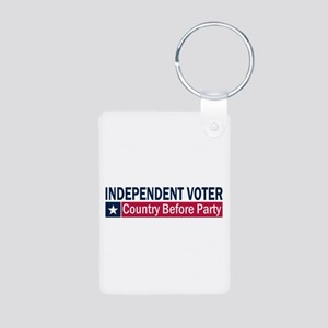 Independent Voter Blue Red Aluminum Photo Keychain