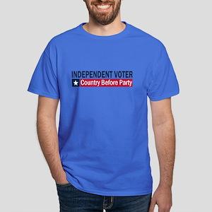 Independent Voter Blue Red Dark T-Shirt