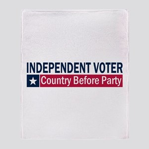 Independent Voter Blue Red Throw Blanket