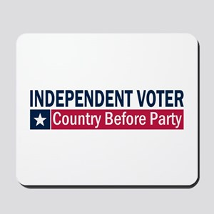 Independent Voter Blue Red Mousepad