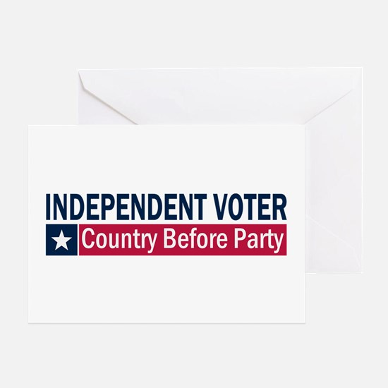 Independent Voter Blue Red Greeting Card
