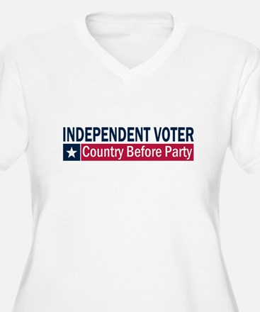 Independent Voter Blue Red T-Shirt