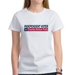 Independent Voter Blue Red Women's T-Shirt