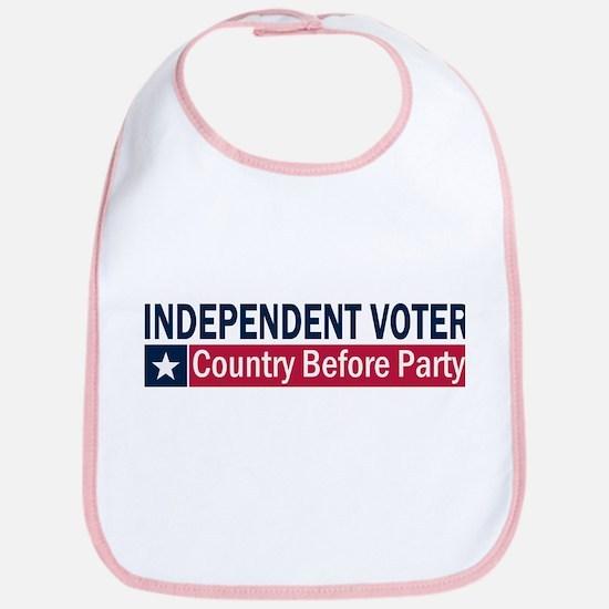 Independent Voter Blue Red Bib