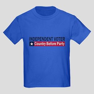 Independent Voter Blue Red Kids Dark T-Shirt