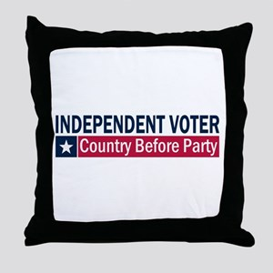 Independent Voter Blue Red Throw Pillow