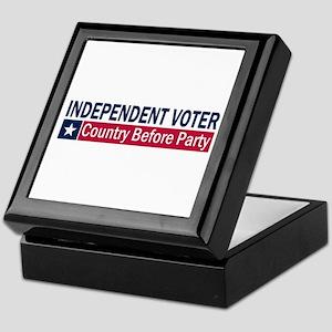 Independent Voter Blue Red Keepsake Box