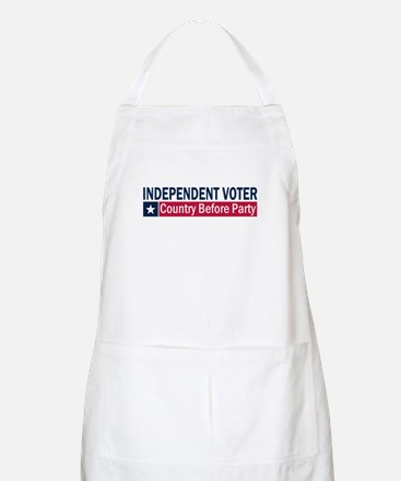Independent Voter Blue Red Apron