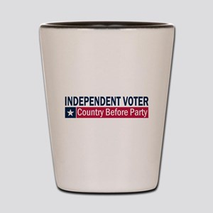 Independent Voter Blue Red Shot Glass