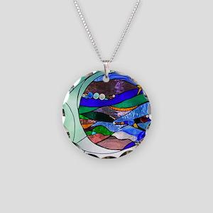crescentmoon Necklace Circle Charm