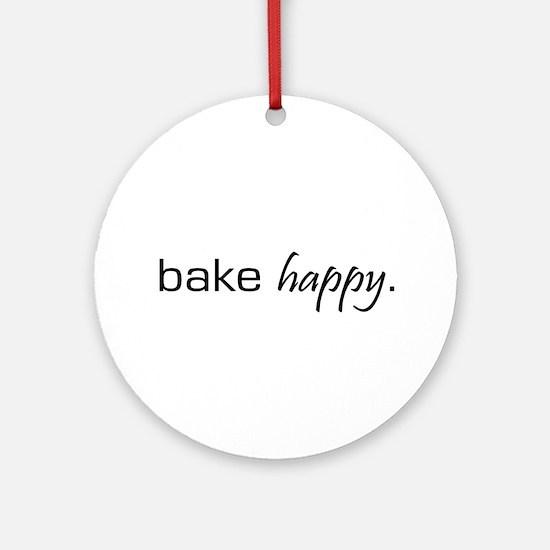 Bake Happy Ornament (Round)