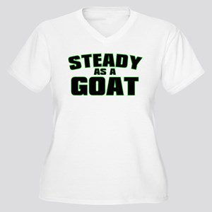 Steady As A Goat Women's Plus Size V-Neck T-Shirt