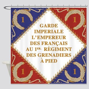 Napoleon's Guard flag Shower Curtain