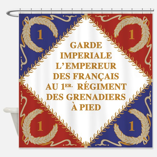 Napoleon's Guard flag Shower Curtain