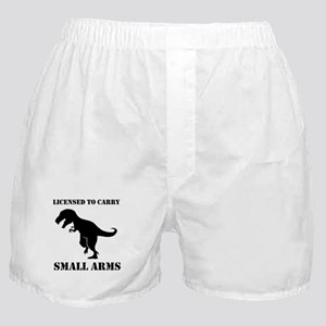 Licensed To Carry Small Arms T-rex Dinosaur Boxer