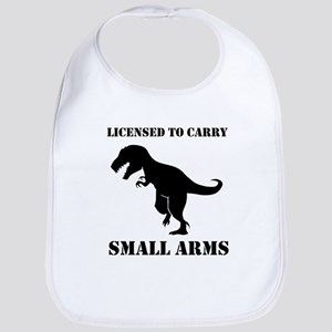 Licensed To Carry Small Arms T-rex Dinosaur Bib