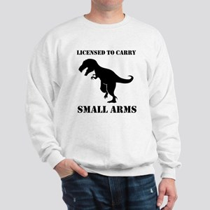 Licensed To Carry Small Arms T-rex Dinosaur Sweats