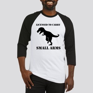 Licensed To Carry Small Arms T-rex Dinosaur Baseba