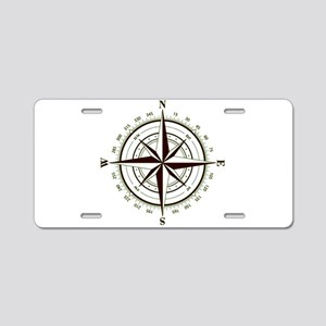 Navigator's Compass Aluminum License Plate