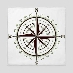 Custom Navigator's Compass Queen Duvet