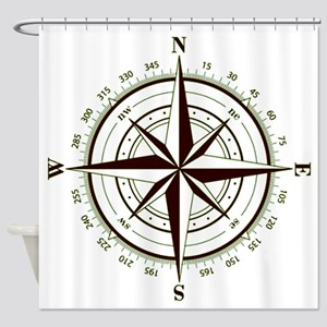 Custom Navigator's Compass Shower Curtain