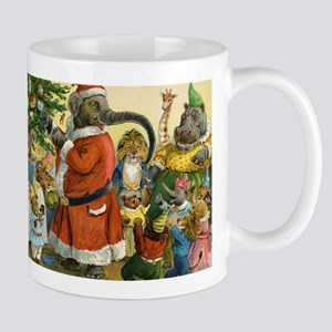 Decorating the Christmas Tree in Animal Land Mug