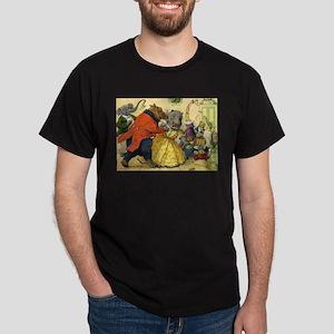 Christmas Dance in Animal Land Dark T-Shirt