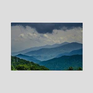 Mountains Landscape Rectangle Magnet