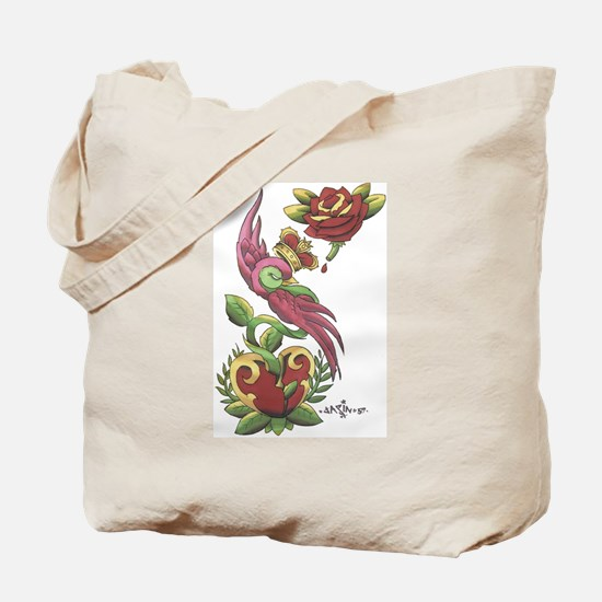 Swallow Crown Tattoo Tote Bag