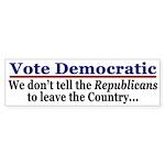 Vote Democratic (bumper sticker)