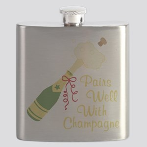 Pairs Well With Champagne Flask
