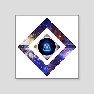 "Eye of the Galaxy Square Sticker 3"" x 3"""