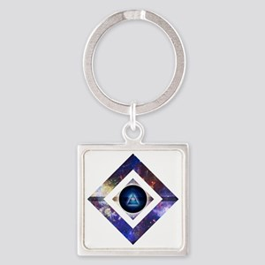 Eye of the Galaxy Square Keychain