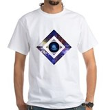 Geometrical Mens Classic White T-Shirts