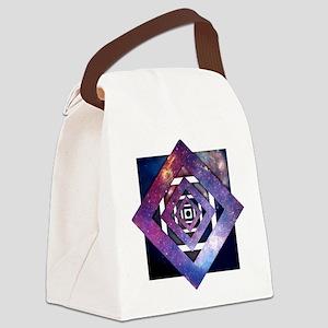 Galaxy Spiral Canvas Lunch Bag