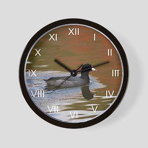 Autumn Coot Wall Clock