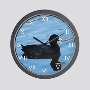 Pale Blue Coot Wall Clock