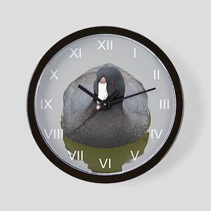 Contemplative Coot Wall Clock