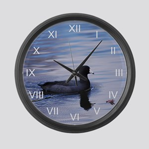 Coot Noir Large Wall Clock