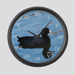 Pale Blue Coot Large Wall Clock