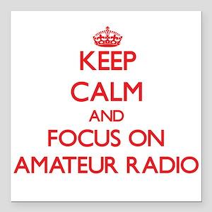 Keep calm and focus on Amateur Radio Square Car Ma