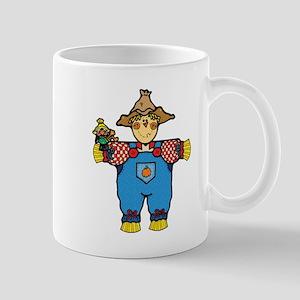 Country Style Scarecrow and Crow Mug