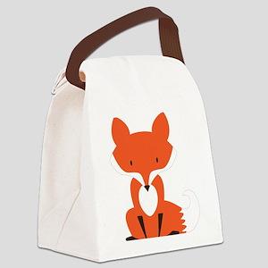 Fox Canvas Lunch Bag