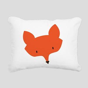 Fox Head Rectangular Canvas Pillow